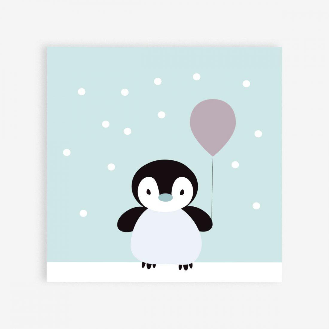 Winter Birthday Postcard