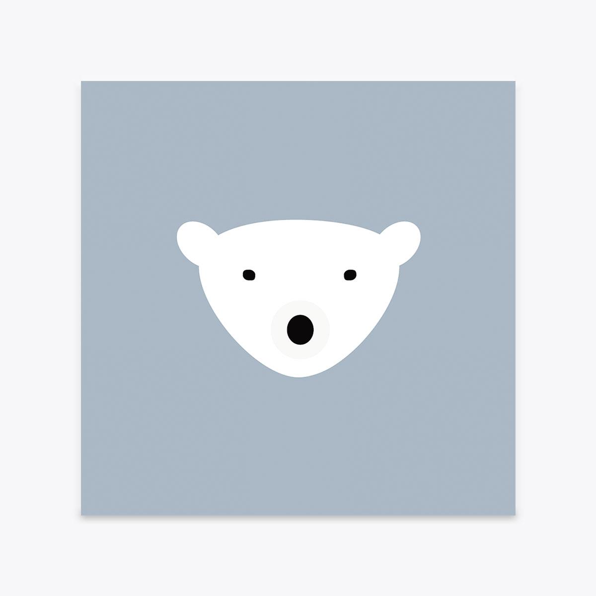 Bear Postcard Crazycat