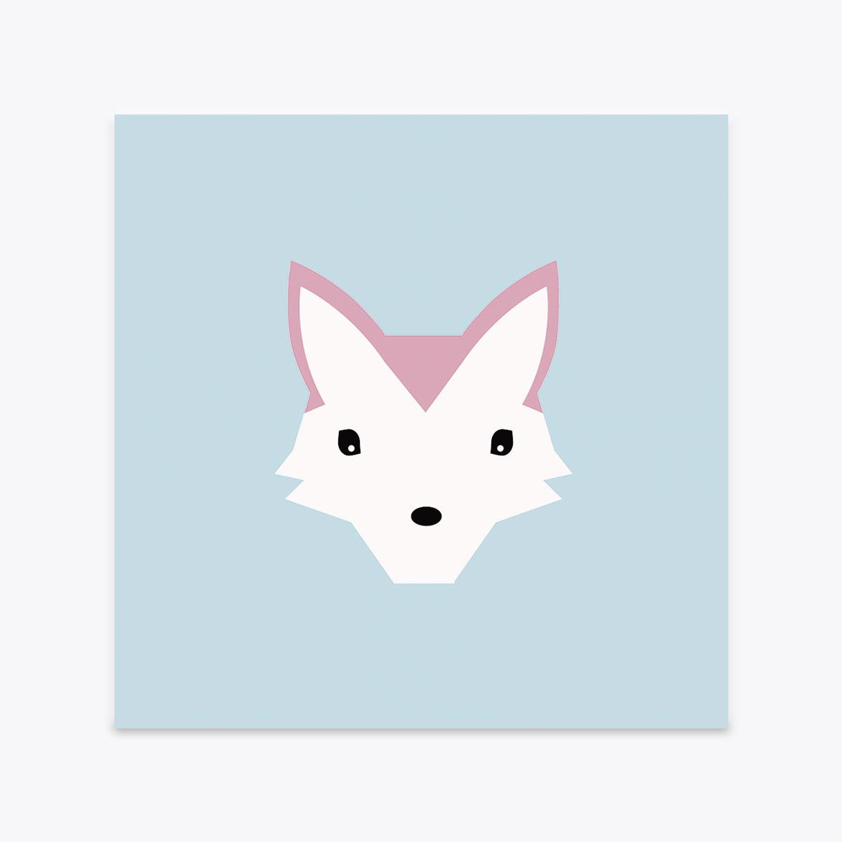 Fox Postcard Crazycat