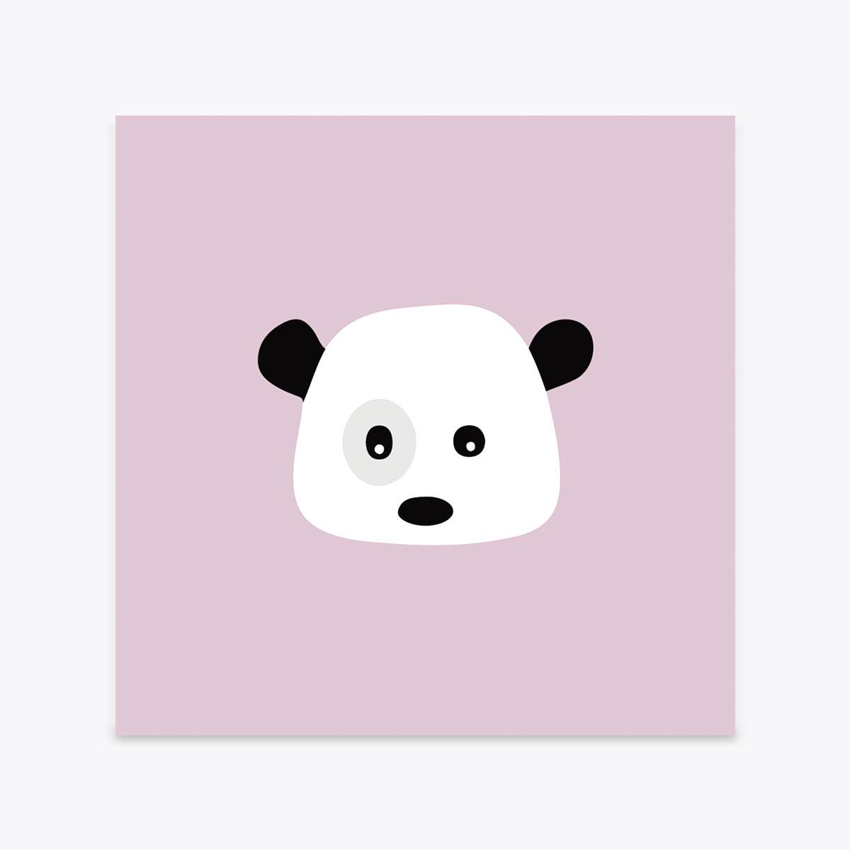 Panda Postcard Crazycat
