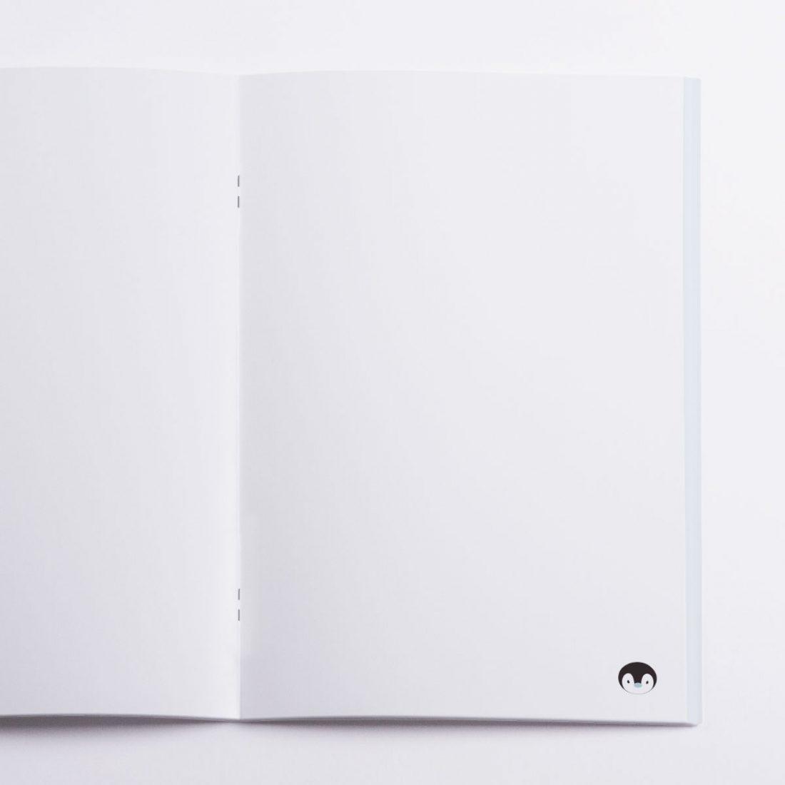Winter Pocket Notebook Crazycat / inside